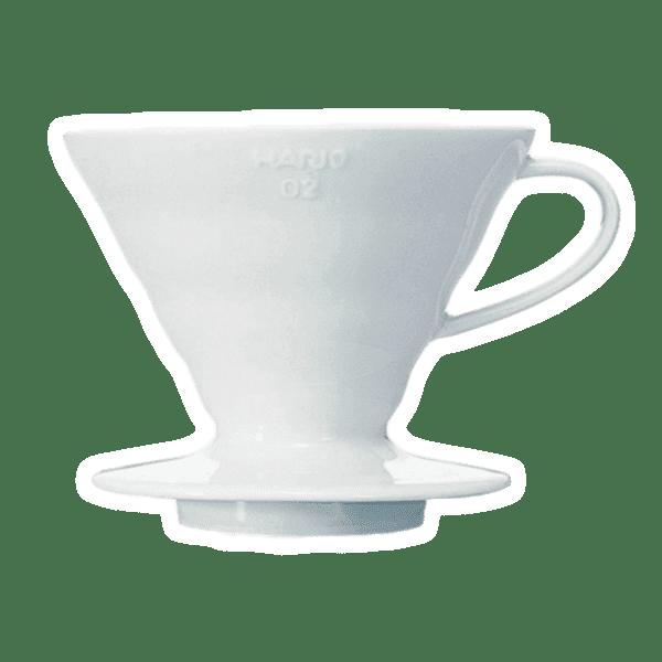 Hario Coffee Dripper V60 02 Ceramic white 01