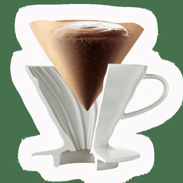 Hario Coffee Dripper V60 02 Ceramic white 03